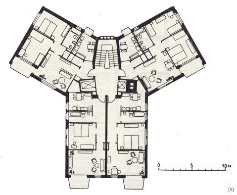 12-этажный дом в жилом