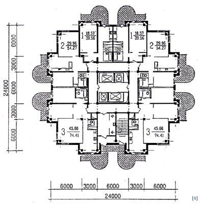 Проекты 24-этажных жилых домов