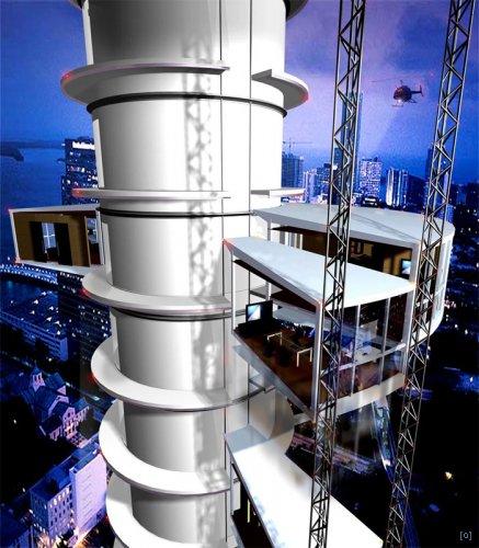 Вятрянная мельница Дэвида Фишера - динамическая архитектура