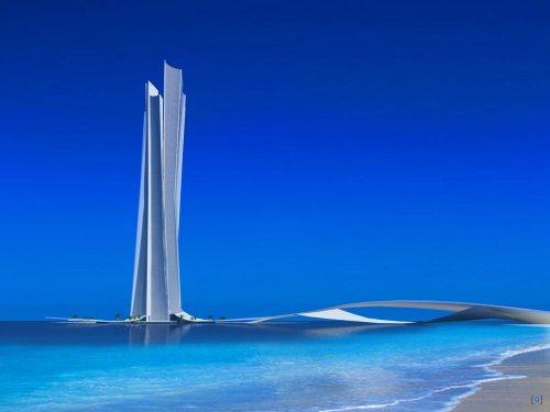 Башня Волны в Дубаи.